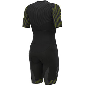 Alé Cycling R-EV1 Fuga SS Unitard Men black-yellow flou